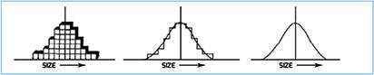"""Figura 4. Esempio di distribuzione """"naturale"""" secondo la legge """"normale"""""""